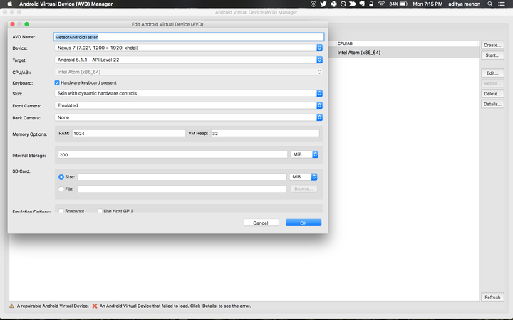 Meteor js based Android app development setup on OS X : Step